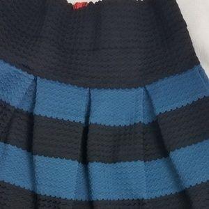 Anthropologie Skirts - Anthro Girls from Savoy striped circle skirt M L